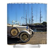 By Land And By Sea Shower Curtain