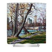 By Niagara River Shower Curtain