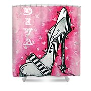 By Pink Design By Madart Shower Curtain by Megan Duncanson