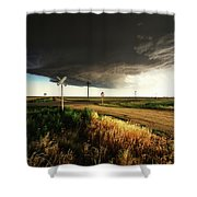 By Road, By Rail, Or By God Shower Curtain