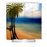 By The Beach Shower Curtain