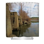 By The Bridge Shower Curtain