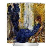 By The Fireside 1875 Shower Curtain