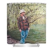 By The Lake - Self Portrait Shower Curtain