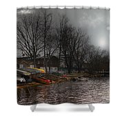 ...by The Pier... Shower Curtain