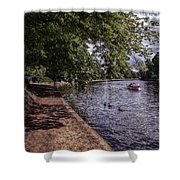 By The River Ouse Shower Curtain