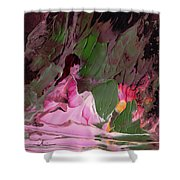 By The River Piedra I Sat Down And Wept Shower Curtain