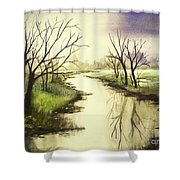By The Riverside Shower Curtain