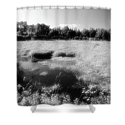 By The Road In Summer Two  Shower Curtain