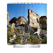 By The Ruins 2 Shower Curtain