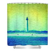 By The Sea - Cape May Lighthouse Shower Curtain