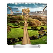 By The Sea 24 Shower Curtain