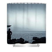 By The Sea In The Wind And Rain Shower Curtain