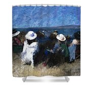By The Sea Shower Curtain