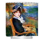 By The Seashore 1883 Shower Curtain