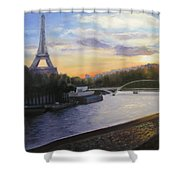 By The Seine Shower Curtain