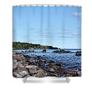 By The Shining Big Sea Water Shower Curtain