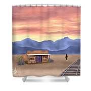 By The Tracks Shower Curtain