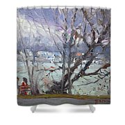 By Tonawanda Canal Shower Curtain