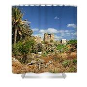 Byblos Castle, Lebanon Shower Curtain