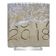 Bye Bye 2017 Welcome2018 Shower Curtain