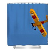 Bye Bye Biplane Shower Curtain