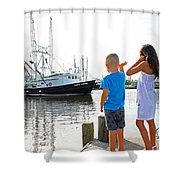 Daddy's Home  Shower Curtain