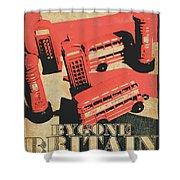 Bygone Britain 1983 Shower Curtain