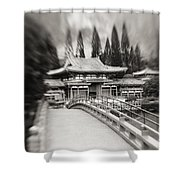 Byodo-in Temple Shower Curtain