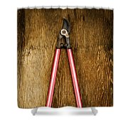 Tools On Wood 1 Shower Curtain by YoPedro