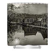 Byrd Park Pumphouse 3711t_s2 Shower Curtain