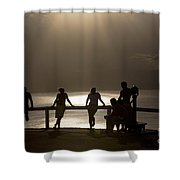 Byron Bay Lighthouse Shower Curtain