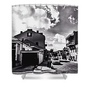 Bywater In Black And White Shower Curtain