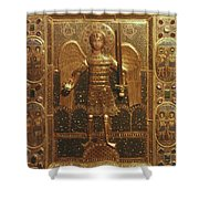 Byzantine Art: St. Michael Shower Curtain