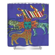 Byzantine Lion Shower Curtain