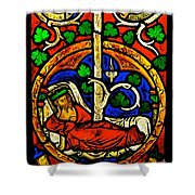 Byzantine Stained Glass Shower Curtain