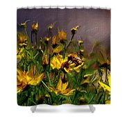 Bzzzzz Shower Curtain