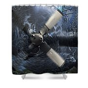 C-130 Through The Storm Shower Curtain