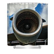 c-17 Power Shower Curtain