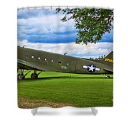 C-47 Special Delivery Shower Curtain