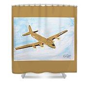 C-54 Warplane Shower Curtain