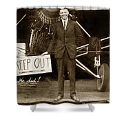 Charles A. Lindbergh And Spirit Of St. Louis 1927 Shower Curtain