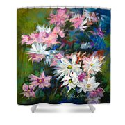 C And D  Cosmos And Daisy That Is Shower Curtain