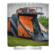 C And H Railroad Snowplow Shower Curtain