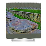 C And O Canal Lock Shower Curtain