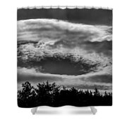 C Clouds Shower Curtain