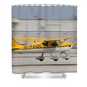 C-fgql Aircraft Shower Curtain