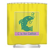C Is For Catfish Kids Animal Alphabet Shower Curtain