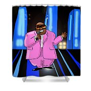 C-lo Pink Shower Curtain
