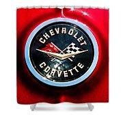 C2 Corvette Logo Shower Curtain